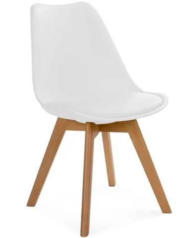 Židle Fiord Bílá/Eko-Kůže/Buk