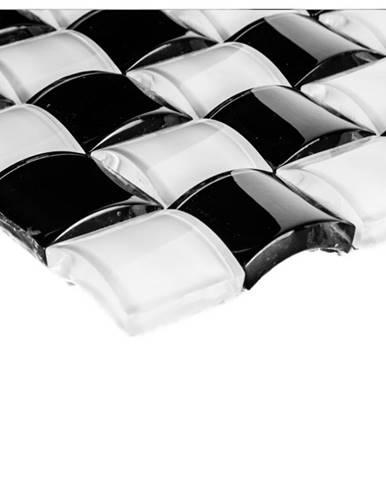 Mozaika 3d black white 78530  25,6x25,6x0,8-1,2