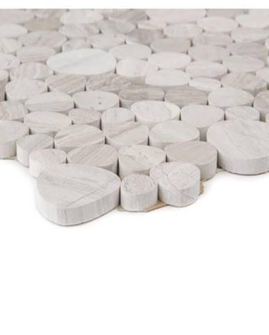 Mozaika marmor grey stripe oval broušený 65622 32x32
