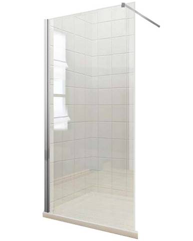 Sprchová zástěna WALK-IN Soft 100 x 195 chromový profil