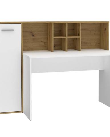 Psací Stůl Bolitarr 158cm Dub Artisan/Bílý