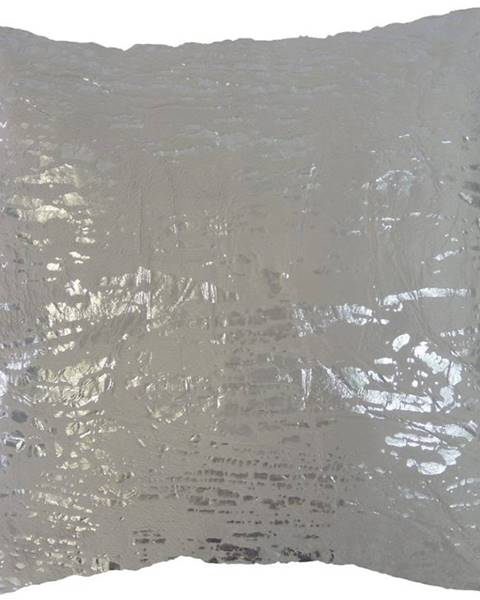 StarDeco Dekorační polštář, 45x45 cm, šedostříbrný