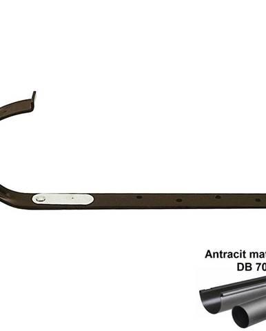 Kovový hák rovný antracit-metalic 125 mm