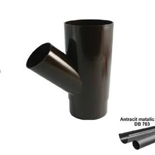 Odbočka antracit-metalic 105 mm/45