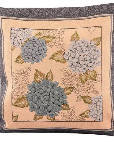 Povlak na polštář 45x45 gobelín hortenzie