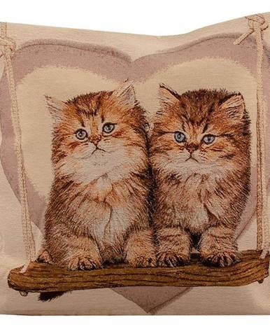 Povlak na polštář 45x45 gobelín kočka 6