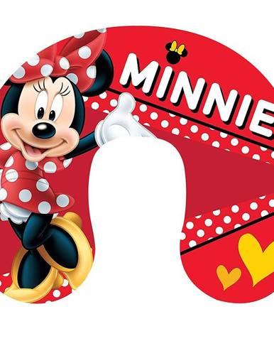 Polštář podkova cestovní 33x28 Minnie red