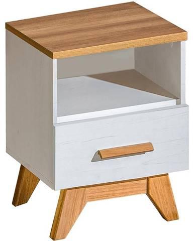 Noční stolek Sven 45cm Dub Nash / Andersen Borovice