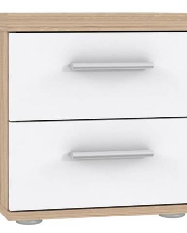 Noční Stolek Winnie Wnk08-Q36 Bílý / Dub Sonoma