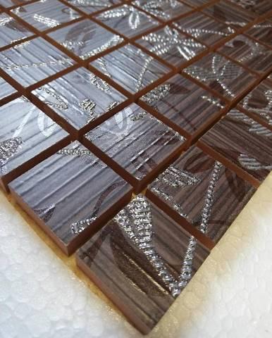 Mozaika Tanaka decor brown 30/30 (2,5/2,5)