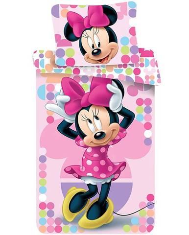 Povlečení bavlna 70x90/140x200 Minnie pink 03
