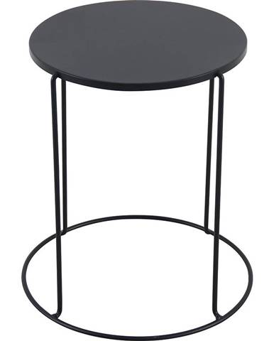 Kovový stolek modern černá 41x45cm