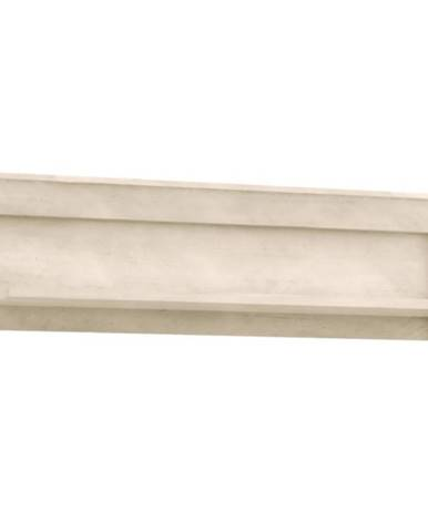 Polička Kashmir 122,8 cm Pina Bílá