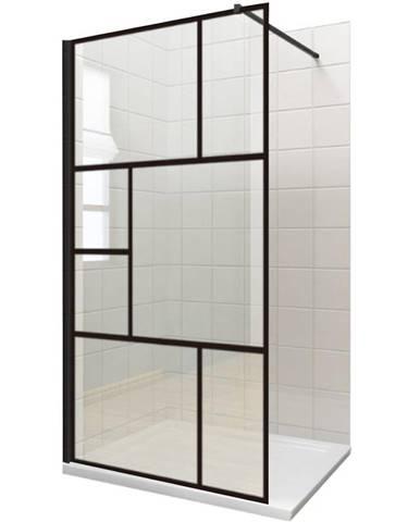 Sprchová zástěna WALK-IN Notte 120 x 195 čierny profil