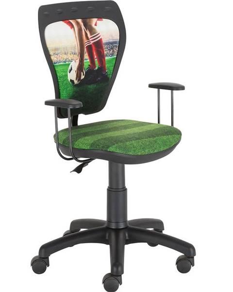 BAUMAX Otáčecí Židle Ministyle Black – Fotbal