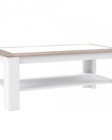 Konferenční Stolek Canne 110 cm Dub Nealson/Bílý Lesk