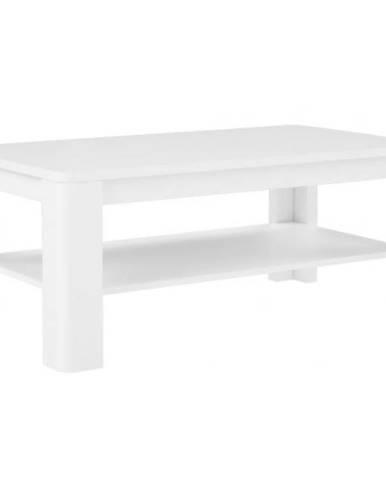 Konferenční Stolek Tuluza 110 cm Bílý/Dub Artisan