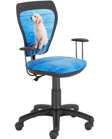 Otáčecí Židle Ministyle Black – Bílý Labrador