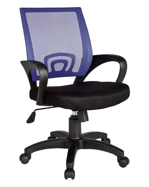 Möbelix Otočná Židle Pro Dítě Rivoli Černá/modrá