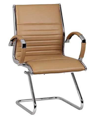 Židle Z Hovězí Kůže Salzburg V Hnědé Barvě