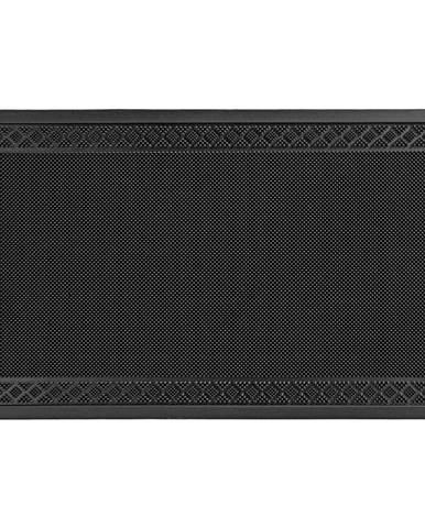Dveřní Rohožka Linus, 60/80cm, Černá