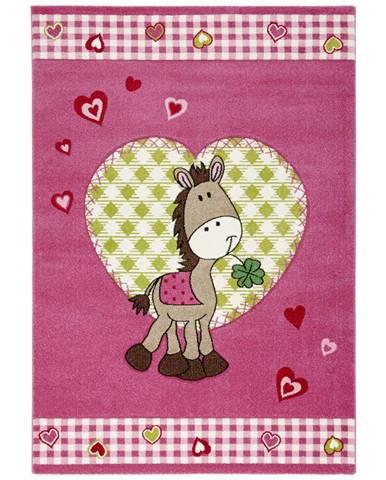 Dětský Koberec Pony, 120/170cm, Růžová
