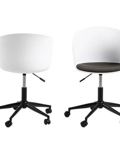 Otočná Kancelářská Židle Moon Bílá