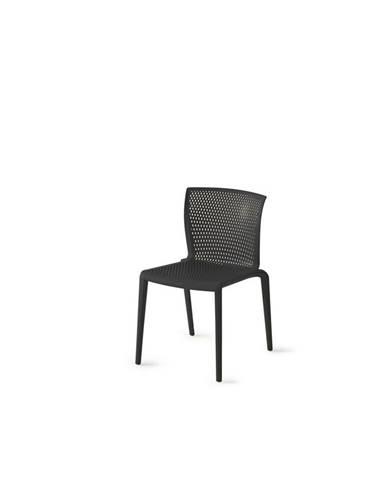 Plastová Židle Spiker Černá-4ks
