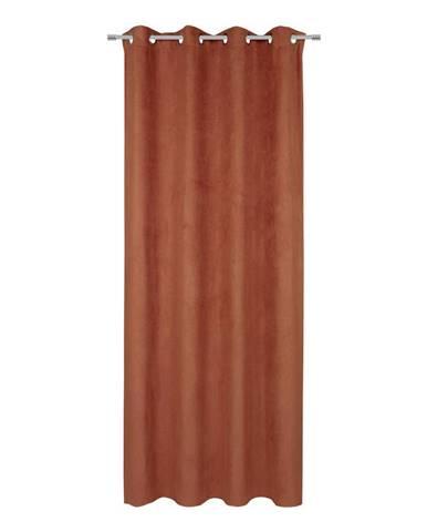 Závěs S Očky Velour, 140/245cm, Terra Cotta