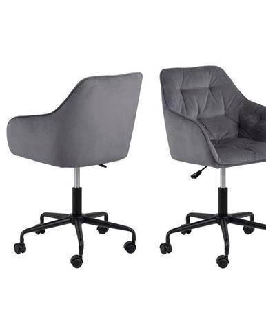Kancelářská Židle Brooke B: Tmavěšedá, Samet