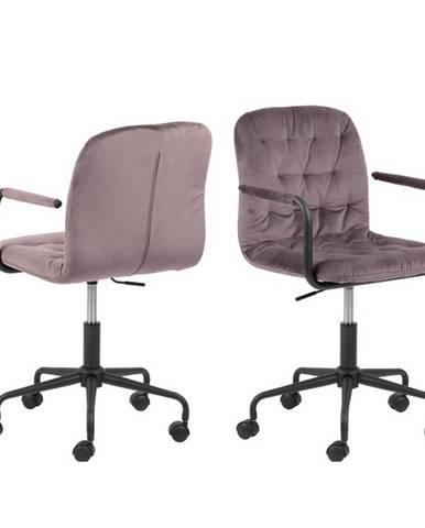 Kancelářská Židle Wendy B: Starorůžová , Samet