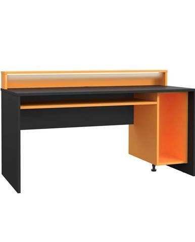 Herní Stůl Tezaur Oranžová/černá Tezaur Š:160cm