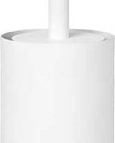 Bílý nerezový toaletní kartáč Blomus