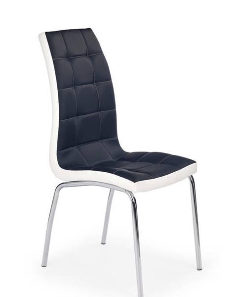 Halmar Halmar Jídelní židle K186, černo-bílá