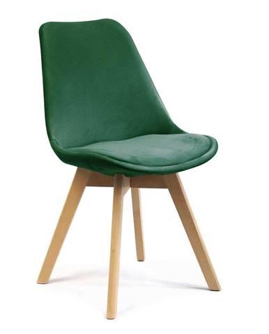 ADK Trade s.r.o. Jídelní židle Felman, tmavě zelená
