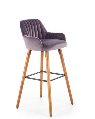 Halmar Barová židle H-93, ořech/tmavě šedá