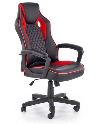 Halmar Herní židle BAFFIN, černá/červená