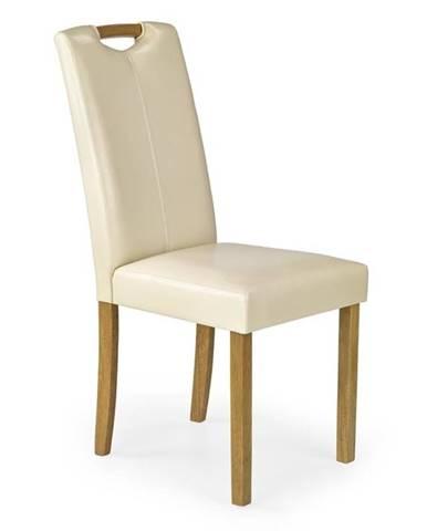 Halmar Jídelní židle CARO, buk/krémová