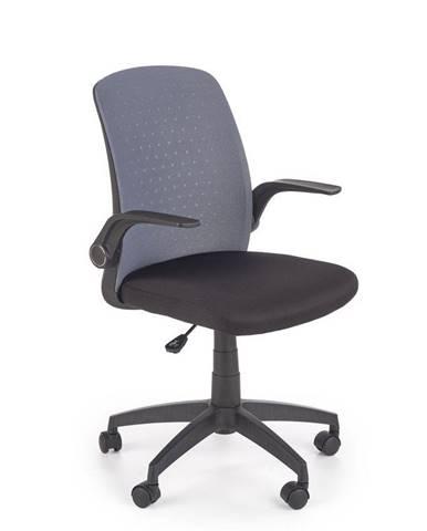 Halmar Kancelářská židle Secret, černá/šedá