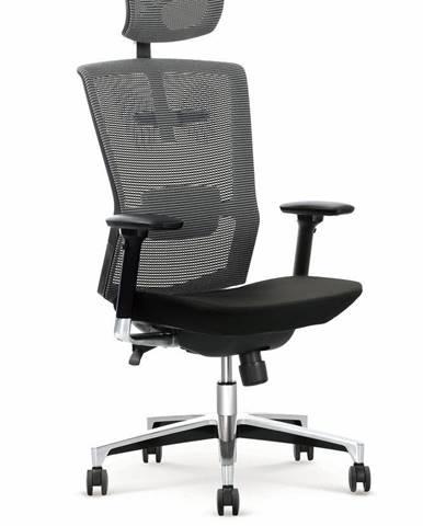 Halmar Kancelářské křeslo AMBASADOR, černá/šedá