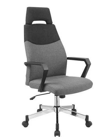 Halmar Kancelářské židle OLAF, černá/šedá