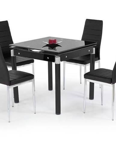 Halmar Rozkládací jídelní stůl Kent, sklo/černý