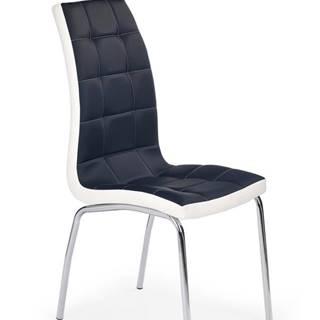 Halmar Jídelní židle K186, černo-bílá