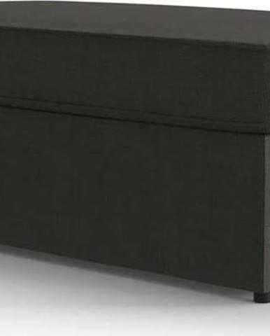 Antracitová polstrovaná rozkládací lavice My Pop Design Brady, 130 cm