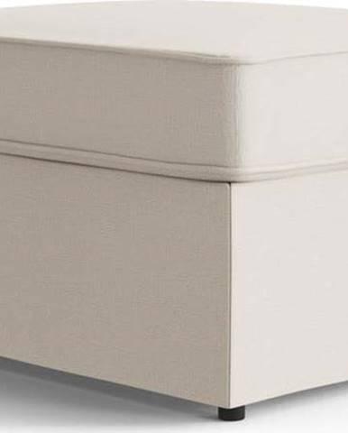 Krémová polstrovaná rozkládací lavice My Pop Design Brady, 80 cm