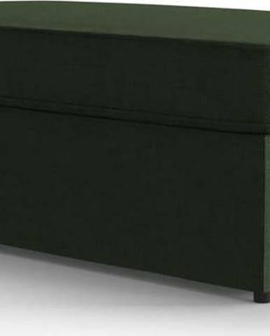Zelená polstrovaná rozkládací lavice My Pop Design Brady, 130 cm