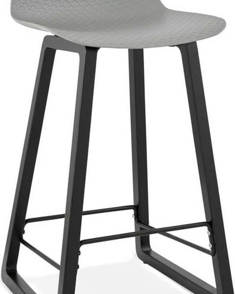 Kokoon Šedá barová židle Kokoon Miky, výškasedu69cm
