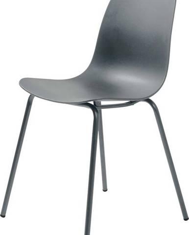 Sada 2 šedých židlí Unique Furniture Whitby