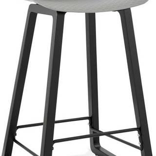 Šedá barová židle Kokoon Miky, výškasedu69cm