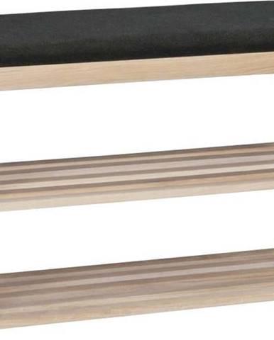 Matně lakovaný dubový botník Rowico Gorges